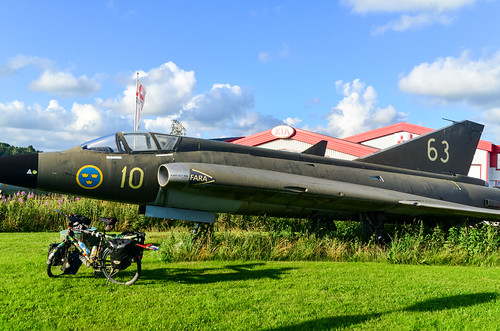 Fighter jet in Sweden