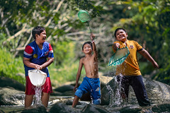 Enjoy your life (Firdaus Zulkefili) Tags: children culture childhood asian boy playing water splash friendship happines