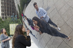 World's most expensive mirror (robwhite3) Tags: chicago milleniumpark thebean mirror cloudgate anishkapoor