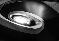 Sekhmet (Douguerreotype) Tags: england london uk british stairs spiral city britain architecture gb urban helix steps bw blackandwhite monochrome mono