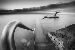 ...ThePath... (7H3M4R713N) Tags: blackandwhite blackwhite fujifilm xt1 1024mm longexposure morning diving lake lacleman suisse switzerland swiss ch fuji flickrunitedwinner flickrunitedaward