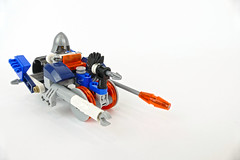 "Lance's Plane & Trike - LEGO NEXO KNIGHTS 70312 MOC (""grohl"") Tags: plane flying vehicle wwii ww2 fighter lego nexo knights moc futuristic alternate cmodel"