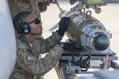 160115-F-CX842-153 (Robert_Cloys) Tags: bagramairfield 455thaew bagram afghanistan freedomssentinel f16 weapons weaponsload gbu54 mj1 jammer 455thexpeditionaryaircraftmaintenancesquadron bomb