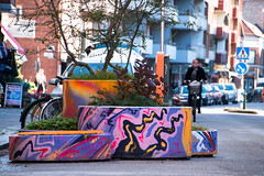 Colorful roadblocks (Maria Eklind) Tags: vghinder raodblocks colorful art pollare polla sweden graffiti streetart blockingthestreet streetview malm malm vghinder skneln sverige se