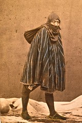 Merchant in winter dress Japan ca 1870 (SSAVE w/ over 6.5 MILLION views THX) Tags: japan japanese customs costumes culture 1870