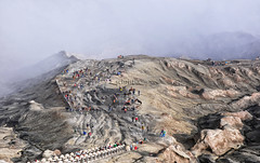 Stairs To Bromo Crater (Schristia) Tags: bromotenggersemerunationalpark crater volcano eastjava indonesia travel landscape stairs