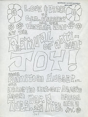 Festival Of Antiwar, 1969 (Regional History Center & NIU Archives) Tags: boycott demonstration protest niu northernillinoisuniversity students activism