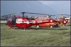 """""""AL III"""" SA319 B AIR ZERMATT HB-XOM 1991 Sion juin 1986 (paulschaller67) Tags: aliii sa319 b air zermatt hbxom 1991 sion juin 1986"""