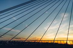 Holding up the Sky (scotty-70) Tags: lenstagger sony sydney nsw australia voigtlander a7 bridge anzac sky sunset cloud