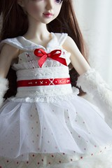 Commission (~Akara~) Tags: bjd ball jointed doll fairylanf fl minifee mini fee mnf dress christmas holiday handmade