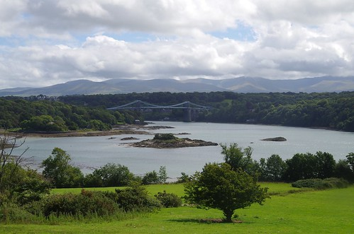 Menai Strait and bridge