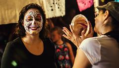Magic Mirror (Chuck LaChance) Tags: dayofthedead halloween facepaint portrait