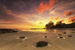 Ambre Resort Belle Mare Sunrise (mpelleymounter) Tags: markpelleymounter mauritius beach beachsunrise sunrise clouds colour earlymorning rocks puddle water sea seascape ambreresort ambreresortmauritius bellemare redsky sand
