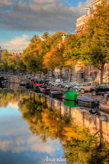 Amsterdam, Noord-Holland, Netherlands (Stewart Leiwakabessy) Tags: houses netherlands grachten nederland canals holland hdr canal multiexposure tonemapped highdynamicrange photomatix saturation bracketed cars bicycles noordholland bricks amsterdam bikes northholland thenetherlands fall autumn colours tree trees herfst water ripples gabledhouses