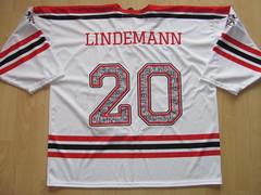 #20 Kim Lee LINDEMANN Game Worn Jersey (kirusgamewornjerseys) Tags: ehc visp game worn jersey ice hockey kim lindemann nlb switzerland
