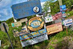 ... advertising welcome ... (wolli s) Tags: bvi flickr promotion schild schilder sign werbung advertisement advertising freshwaterpond tortola britischejungferninseln vg british virgin island
