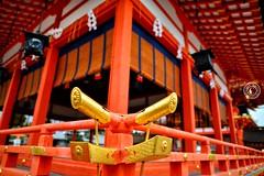 Fushimi Inari Shrine. Inari Kitsune Kyoto.  Glenn E Waters. Japan 2016. (Glenn Waters in Japan.) Tags: kyoto japan shrine jinja inari autumn temple gold glennwaters