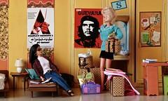 Freshman Roommates (barbiescanner) Tags: barbie barbiefashions classique colormagic barbiecampus barbiestructures aclockworkorange cheguevara college roommates fashiondolls dioramas miniatures