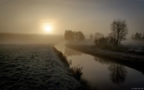 Misty sunrise in Harkstede
