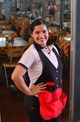 Live From Chile!! (Ctuna8162) Tags: chile antofagasta waitress woman mercado smile cute