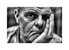 My Mrs has the remote ! ;-((( (CJS*64) Tags: bored unhappy ohno cjs64 craigsunter cjs nikon nikkorlens nikkor nikond7000 50mmf18lens 50mmnikkorlens 50mmf18d blackwhite bw blackandwhite mono monochrome whiteblack whiteandblack portrait selfi me expression