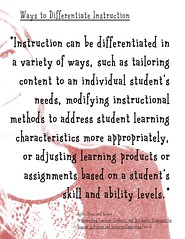 Educational Postcard:  Ways to differentiate instruction (Ken Whytock) Tags: di differentiated instruction differentiatedinstruction ways means variety tailoringcontent individual students student studentsneeds modifying instructional methods address characteristics appropriaptely adjusting learningproducts assignments studentsskills abilitylevels