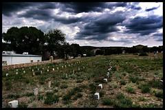 Potter's Field of Citizens Cemetery (~ Lone Wadi Archives ~) Tags: prescottarizona pottersfield citizenscemetery graveyard headstones tombstones gravestones death finalrestingplace cloudy dark gloomy overcast americansouthwest yavapaicounty