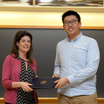 Professor Eva Pomerantz, Ziang Xiao: Honors in Psychology & James E. Spoor Scholarship recipient