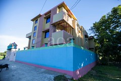 5D8_7394 (bandashing) Tags: pink blue basha house property walled villa village black goat trees madarbazar balagonj sylhet manchester england bangladesh bandashing socialdocumentary aoa akhtarowaisahmed