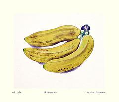Banana (Japanese Flower and Bird Art) Tags: flower banana musa musaceae yuko wada modern intaglio print japan japanese art readercollection