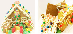 Trouble Caused by Gingerbread Monsters (garlandcannon) Tags: diptych gingerbreadhouse