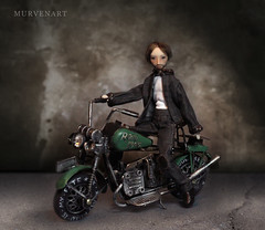 Motorcyclist (murvenart) Tags: abandoned aged antique cement colored crackle cracks cuts damage dark dirty effects floor grunge grungy hardwood home house indoor inside interior material messy old painted retro room rough row rugged rusty shadows stained textured timber vintage wall weathered wood wooden shadow light bjd doll dollartistry miniature mimicreo forsale