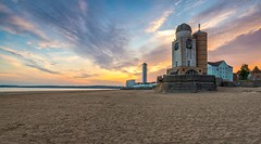 Marina Towers Observatory (technodean2000) Tags: uk sunset sea sky colour tower beach swansea wales clouds marina hotel coast sand nikon south great towers best observatory welsh colourful brilliant lightroom d610 ecliptic wles