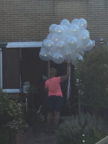 Heliumballonnen Wit Metallic
