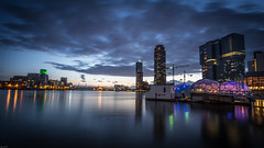 "Rijnhaven, Rotterdam (DC P) Tags: street city bridge sunset haven holland building water colors skyline architecture night clouds skyscraper port canon buildings dark hotel rotterdam colours erasmus harbour outdoor ss nederland wolken netherland addicted brug kpn soe hdr stad 6d rijnhaven bej hdraddicted ""flickrtravelaward"" flickrtravelaward ☯laquintaessenza☯"