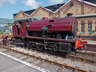 """Bagnall No 2996 """"Victor"""" built in Stafford in 1951 at the Lakeside & Haverthwaite Railway"""