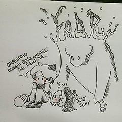 30.9.15 (Gatto Verde Acqua) Tags: fear paura buonanotte blunotte gattoverdeacqua diarioverdeacqua