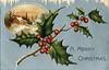Antique Christmas Postcard - Blue Background (Brynn Thorssen) Tags: santa christmas xmas red holiday snow green vintage gold antique holly postcards yule fatherchristmas santaclaus merrychristmas santaklaus happynewyear happychristmas yuletide oldsaintnick срождеством срождествомхристовым