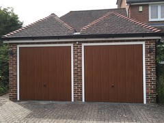 Pair of vertical decograin canopy doors in Heathfield
