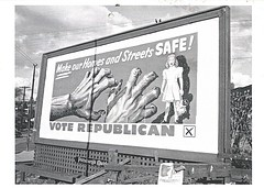 23 RobinP (Rocky's Postcards) Tags: sign propaganda postcard politics charles billboard republican campaign partisan scaremongering fearmongering teenieharris voterepublican robinp