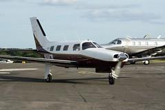 N186CB (IndiaEcho Photography) Tags: light england canon eos airport general aircraft aviation aeroplane malibu surrey civil piper airfield fairoaks chobham pa46 egtf 1000d n186cb