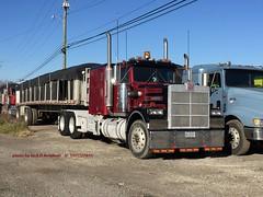 Marmon, Belle Vernon, PA, 11-15-2015 (jackdk) Tags: tractor truck semi semitruck coveredwagon tractortrailer marmon trailertruck spreadaxle steelhauler marmontruck