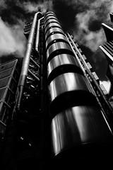 Lloyds of London (justinclayton99) Tags: city blackandwhite bw building steel richard rogers insurance lloyds lloydsoflondon 2015