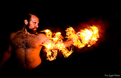 FireBender (Fire Light Photos) Tags: light portrait lightpainting night portraits fire heat po lighttrails lighttrail firepainting firebender