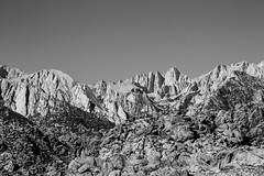 Mt Whitney (Peter-D-Smith) Tags: california bw usa monochrome landscape sierranevada lonepine alabamahills canonef100400mmf4556lisusm pano3 canoneos5dmkiii september2015