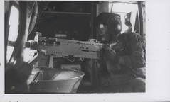 Willard J. Falgout, Jr. Provides Covering Fire, circa 1968 (Marine Corps Archives & Special Collections) Tags: marine war jonathan vietnam corps marines abel