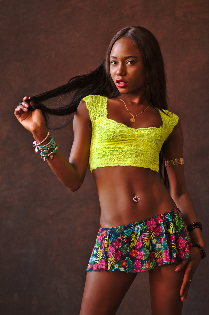 Attactive Skinny Black Teen Girl Standing In Dress Stock: The World's Best Photos Of Ebony And Frau