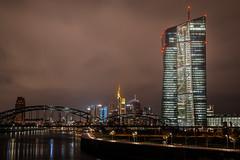 Frankfurt EZB und Skyline bei Nacht (bastianlui) Tags: city skyline night deutschland european nacht frankfurt main central bank ecb ezb zentralbank europische