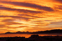 Cloudy Sunset (Nicolas Bousquet) Tags: sunset orange ctedazur coucherdesoleil frenchriviera anitbes romanticsunset
