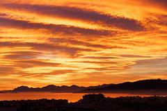 Cloudy Sunset (Nicolas Bousquet) Tags: sunset orange ctedazur coucherdesoleil frenchriviera anitbes romanticsunset